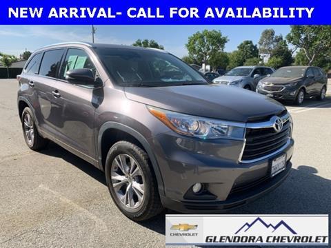 2015 Toyota Highlander for sale in Glendora, CA
