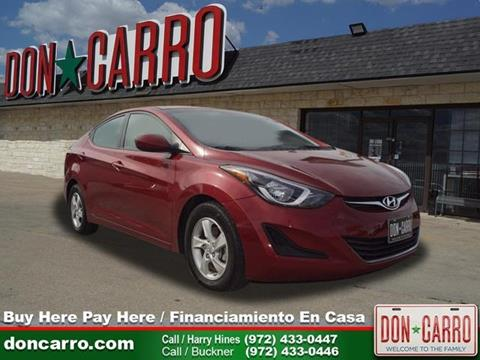 2015 Hyundai Elantra for sale in Dallas, TX