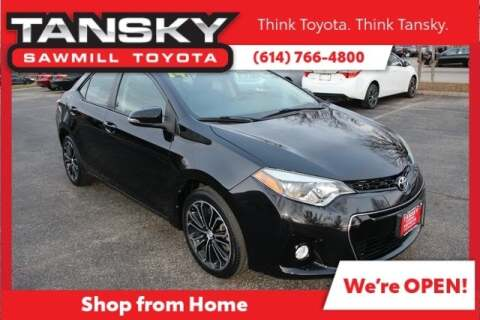 2014 Toyota Corolla S for sale at Tansky Sawmill Toyota in Dublin OH