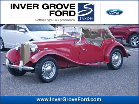 Classic Cars For Sale Mn >> 1953 Mg Td 2887 For Sale In Inver Grove Heights Mn