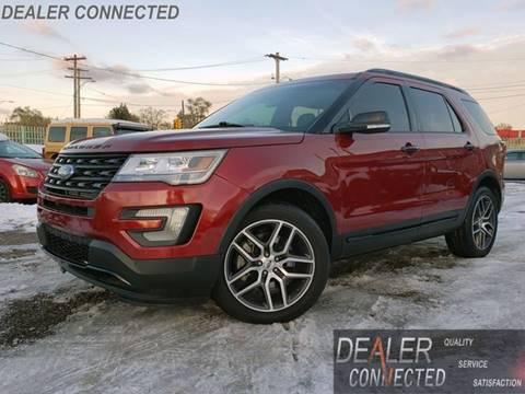 2016 Ford Explorer Sport for sale at DEALER CONNECTED INC in Detroit MI