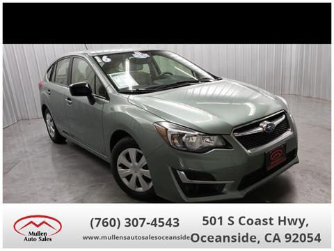 2016 Subaru Impreza for sale in Oceanside, CA