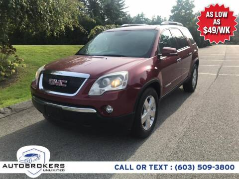 2008 GMC Acadia for sale at Auto Brokers Unlimited in Derry NH