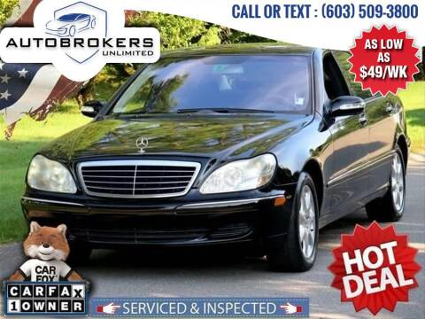 2004 Mercedes-Benz S-Class for sale at Auto Brokers Unlimited in Derry NH