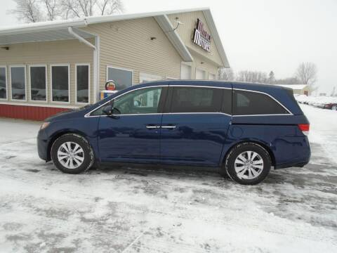2015 Honda Odyssey for sale at Milaca Motors in Milaca MN