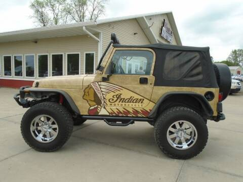 2001 Jeep Wrangler for sale at Milaca Motors in Milaca MN