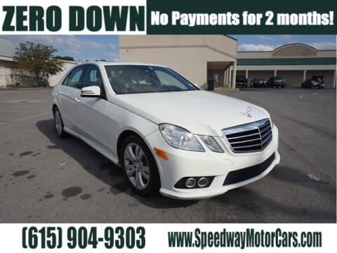 2010 Mercedes-Benz E-Class for sale at Speedway Motors in Murfreesboro TN