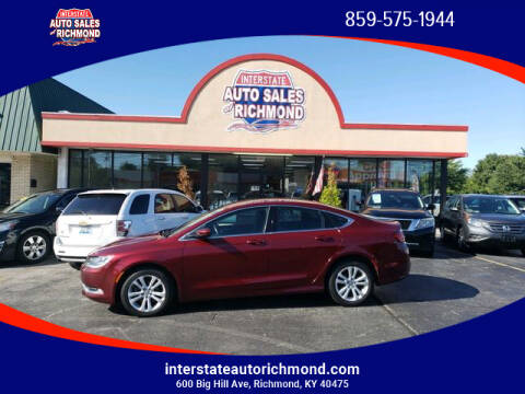 Car Dealerships In Richmond Ky >> 2015 Chrysler 200 For Sale In Richmond Ky