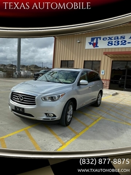 2013 Infiniti JX35 for sale at TEXAS AUTOMOBILE in Houston TX