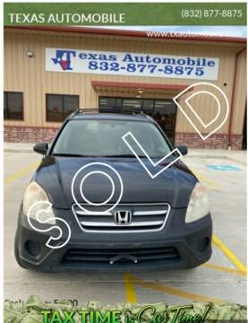 2005 Honda CR-V for sale at TEXAS AUTOMOBILE in Houston TX