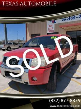 2007 Nissan Titan for sale at TEXAS AUTOMOBILE in Houston TX