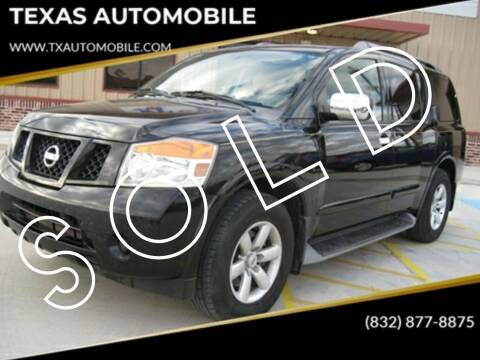 2010 Nissan Armada for sale at TEXAS AUTOMOBILE in Houston TX
