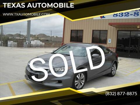 2011 Honda Accord for sale at TEXAS AUTOMOBILE in Houston TX