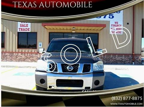 2005 Nissan Titan for sale at TEXAS AUTOMOBILE in Houston TX