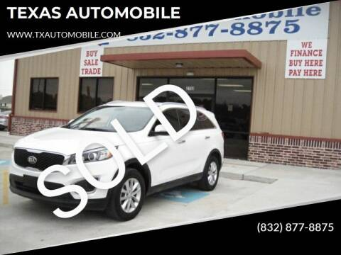 2017 Kia Sorento for sale at TEXAS AUTOMOBILE in Houston TX