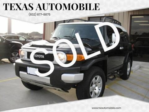 2007 Toyota FJ Cruiser for sale at TEXAS AUTOMOBILE in Houston TX