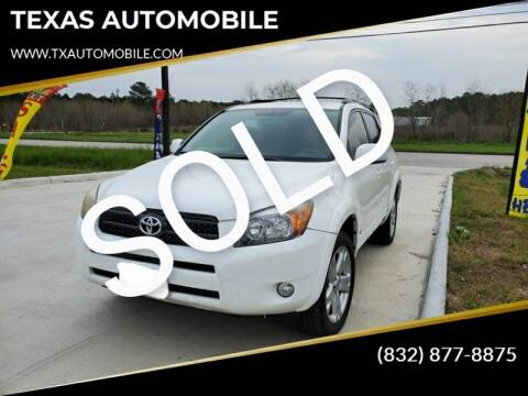 2007 Toyota RAV4 for sale at TEXAS AUTOMOBILE in Houston TX
