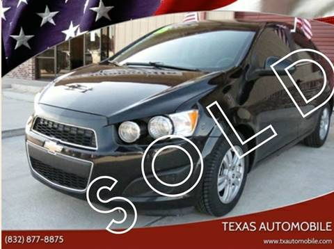 2015 Chevrolet Sonic for sale at TEXAS AUTOMOBILE in Houston TX