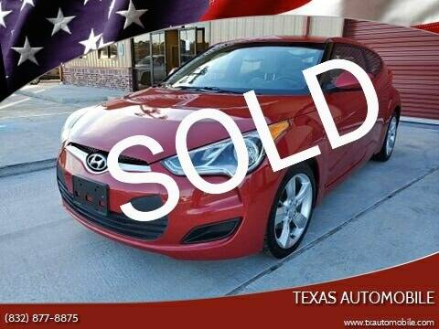 2013 Hyundai Veloster for sale at TEXAS AUTOMOBILE in Houston TX
