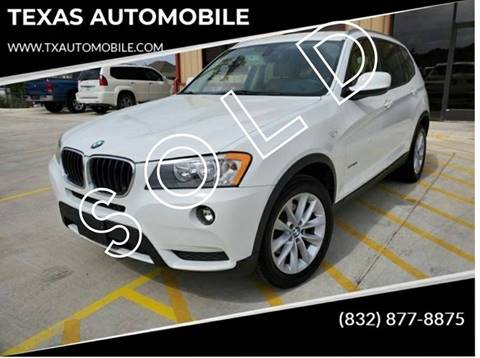 2013 BMW X3 for sale at TEXAS AUTOMOBILE in Houston TX