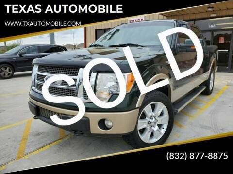 2012 Ford F-150 for sale at TEXAS AUTOMOBILE in Houston TX
