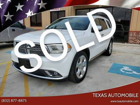 2015 Dodge Durango for sale at TEXAS AUTOMOBILE in Houston TX