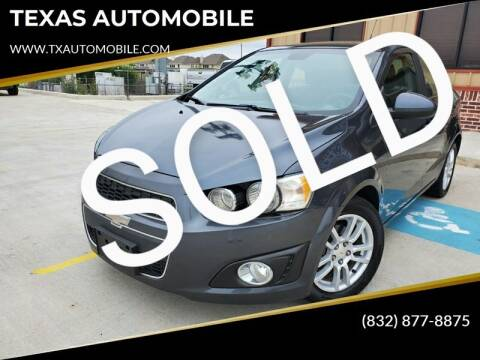 2012 Chevrolet Sonic for sale at TEXAS AUTOMOBILE in Houston TX