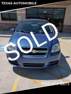 2007 Chevrolet Aveo for sale at TEXAS AUTOMOBILE in Houston TX