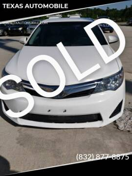 2014 Toyota Camry for sale at TEXAS AUTOMOBILE in Houston TX
