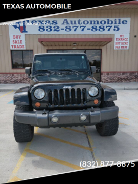 2007 Jeep Wrangler Unlimited Sahara for sale at TEXAS AUTOMOBILE in Houston TX