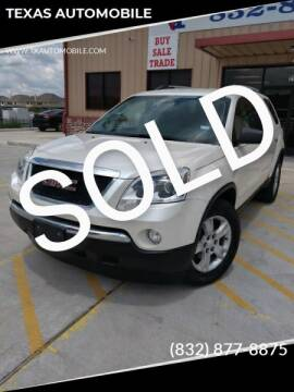 2012 GMC Acadia for sale at TEXAS AUTOMOBILE in Houston TX