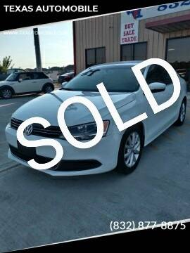 2014 Volkswagen Jetta for sale at TEXAS AUTOMOBILE in Houston TX