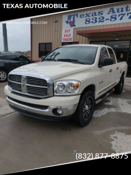 2008 Dodge Ram Pickup 1500 for sale at TEXAS AUTOMOBILE in Houston TX