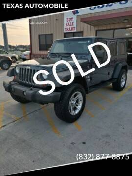2008 Jeep Wrangler Unlimited for sale at TEXAS AUTOMOBILE in Houston TX