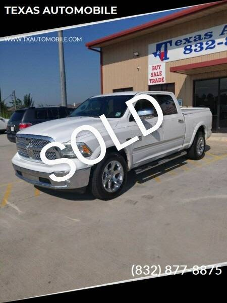 2013 RAM Ram Pickup 1500 for sale at TEXAS AUTOMOBILE in Houston TX
