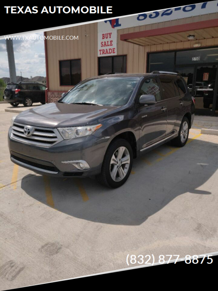2012 Toyota Highlander for sale at TEXAS AUTOMOBILE in Houston TX