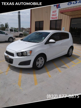 2014 Chevrolet Sonic for sale at TEXAS AUTOMOBILE in Houston TX