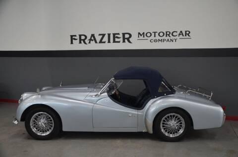 1959 Triumph TR3 for sale at Frazier Motorcar Company in Lebanon TN