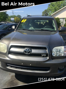 2007 Toyota Sequoia SR5 for sale at Bel Air Motors in Mobile AL