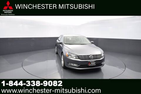 2013 Volkswagen Passat for sale at Winchester Mitsubishi in Winchester VA