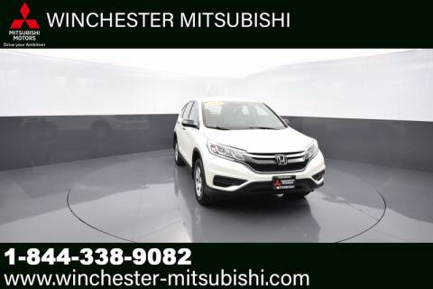 2016 Honda CR-V for sale at Winchester Mitsubishi in Winchester VA