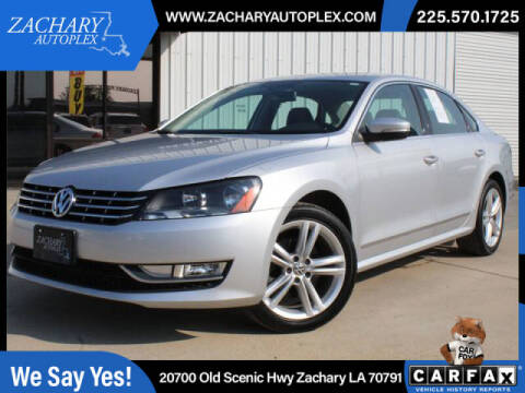 2013 Volkswagen Passat for sale at Auto Group South in Natchez MS