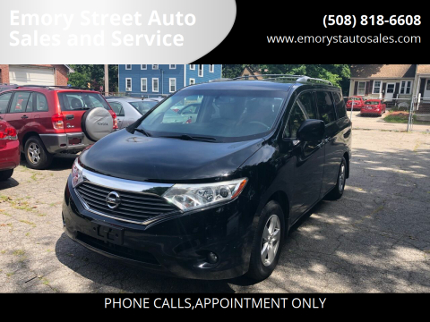 2012 Nissan Quest for sale at Emory Street Auto Sales and Service in Attleboro MA