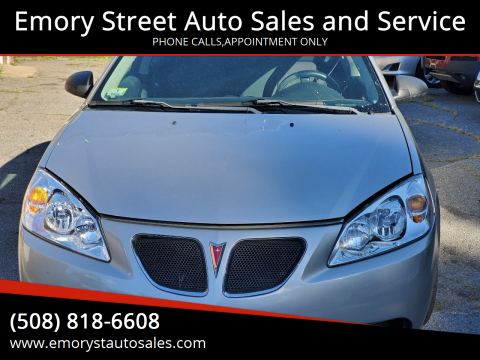 2008 Pontiac G6 for sale at Emory Street Auto Sales and Service in Attleboro MA