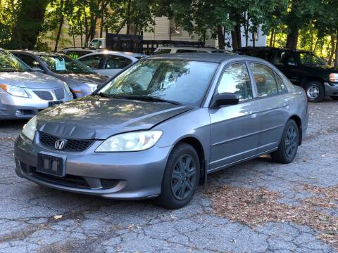 2005 Honda Civic for sale at Emory Street Auto Sales and Service in Attleboro MA