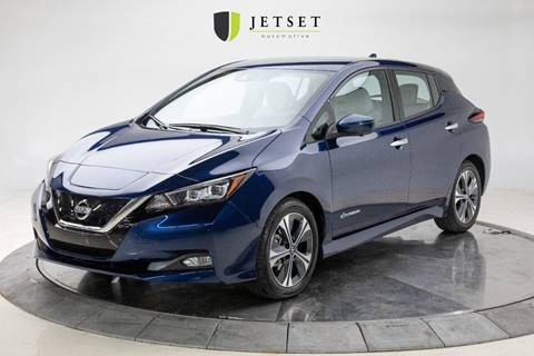 2019 Nissan LEAF SL for sale at Jetset Automotive - Electric Cars in Cedar Rapids IA
