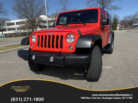2016 Jeep Wrangler Unlimited for sale at Premier Autos in Huntington NY