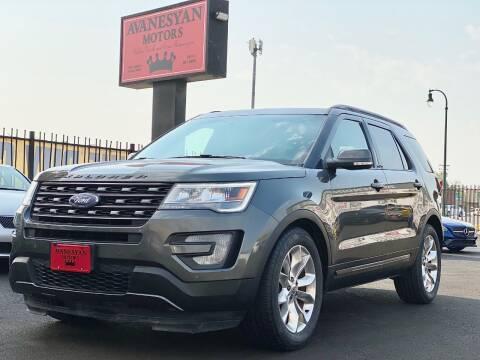 2017 Ford Explorer for sale at Avanesyan Motors in Orem UT