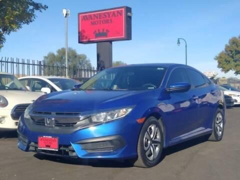2016 Honda Civic for sale at Avanesyan Motors in Orem UT