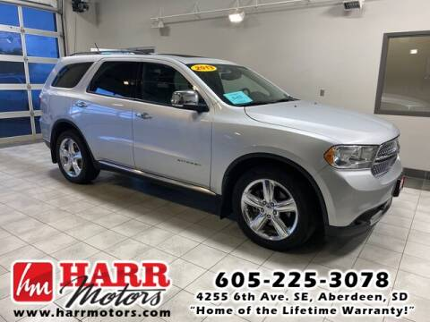 2013 Dodge Durango for sale at Harr's Redfield Ford in Redfield SD